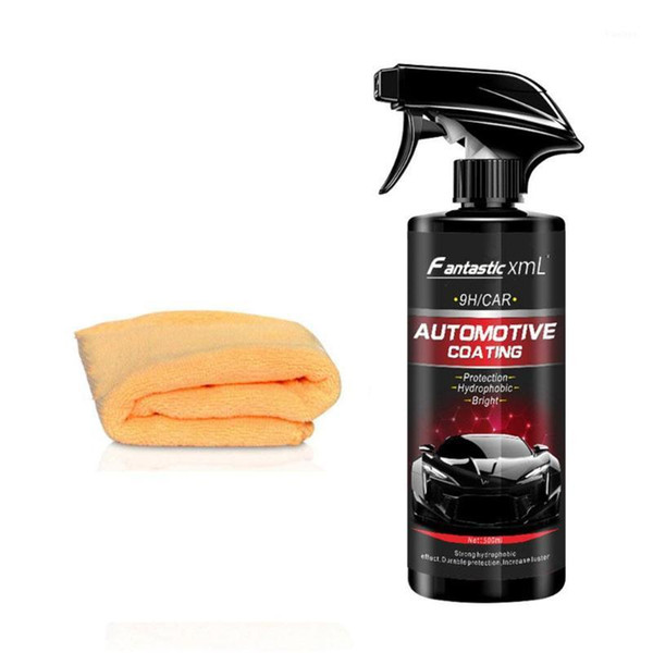 top popular 500ML Car Spray Wax Car Cleaning Liquid Ceramic Spray Coating Polish Sealant Top Coat Quick -Coating Styling1 2021