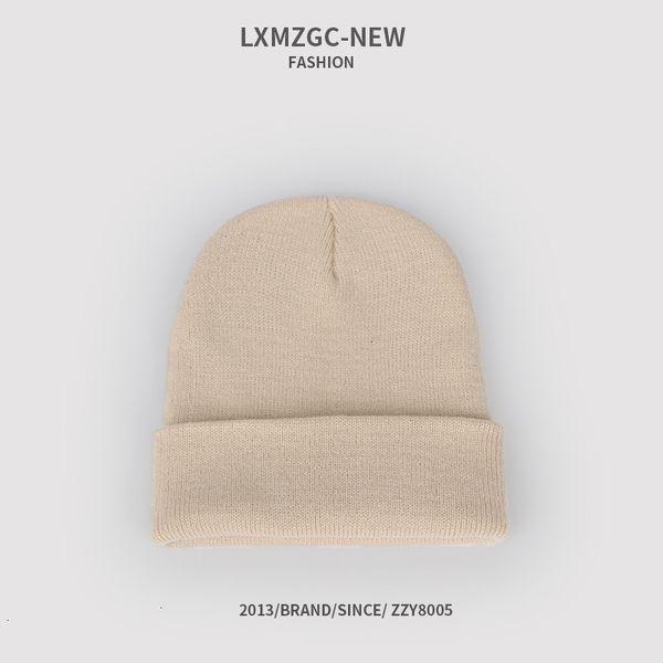 Sombrero de punto fluorescente - beige