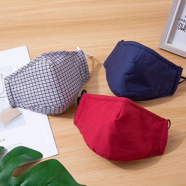 Baumwolle Maske mit Tasche zufällige Farbe