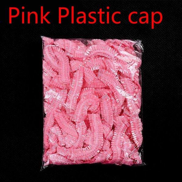 Pink tapas de plástico