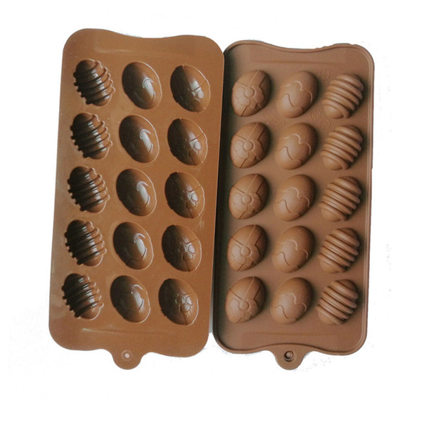 best selling 15 Hole Egg Shaped Chocolate Silicone Mold Mini Easter Eggs DIY Kitchen Decorates Tools Handmade Lollipop Toffees Molds Ice Cube new G11302