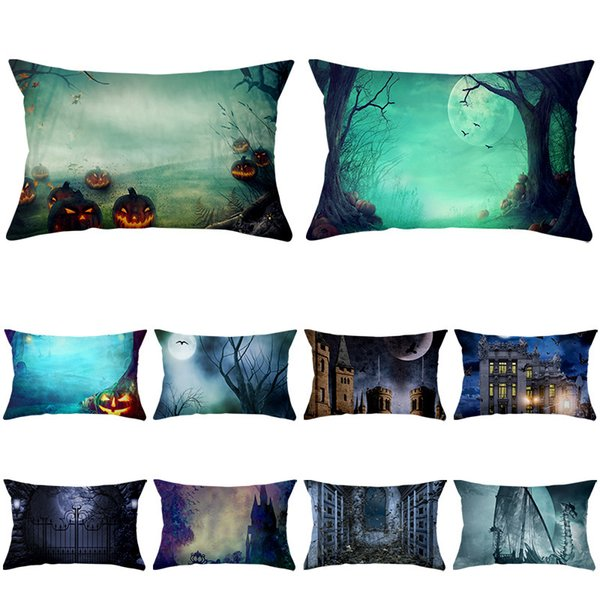 best selling Case Halloween Series 2020 Waist Pillow Peach Skin Pillow Cover Home Sofa Pillow Cover