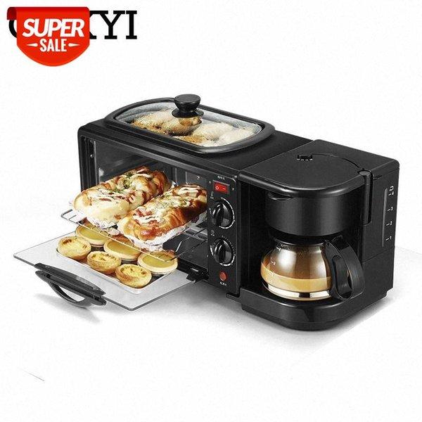 best selling CUKYI 3 In 1 Electric Breakfast Machine Multifunction Coffee maker frying pan mini oven household bread pizza oven frying pan #YE86