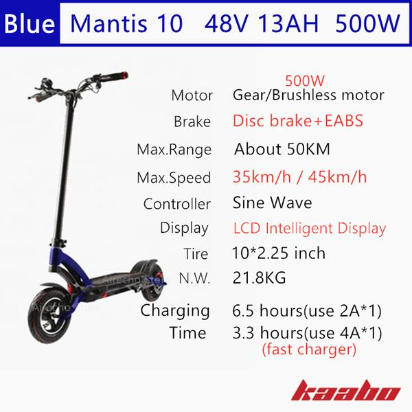 M10 48V 500W Blue