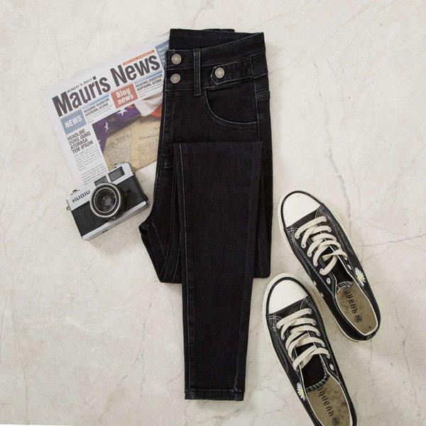 Calças pretas puras sem veludo