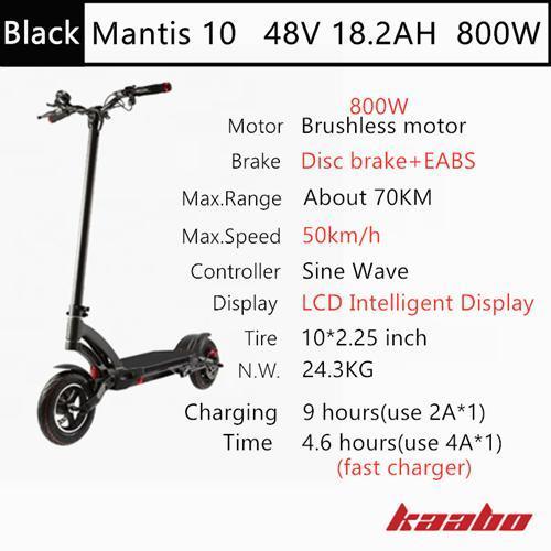 M10 48V 800W Black