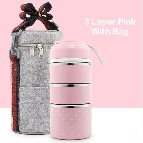 3 Capa rosa bolsa