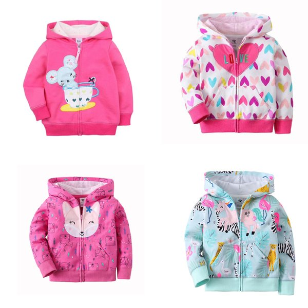 best selling baby jacket 2020 autumn baby boy girls clothes long sleeve hooded coat fashion tops zipper cotton 9m-3T infant clothing Q1123