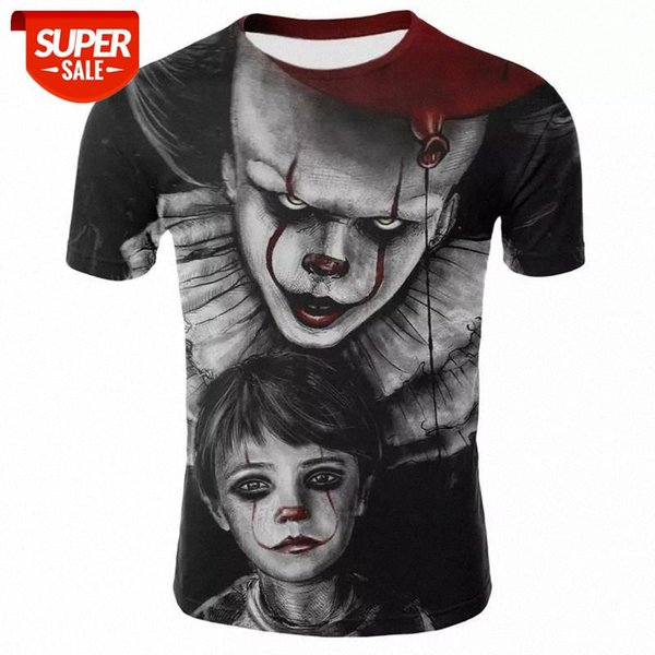 best selling Horror Movie It Penny Wise Clown Joker 3D Print Tshirt Men Women Hip Hop Streetwear Tee T shirt 90s Boys Cool Clothes Man Tops #W62h