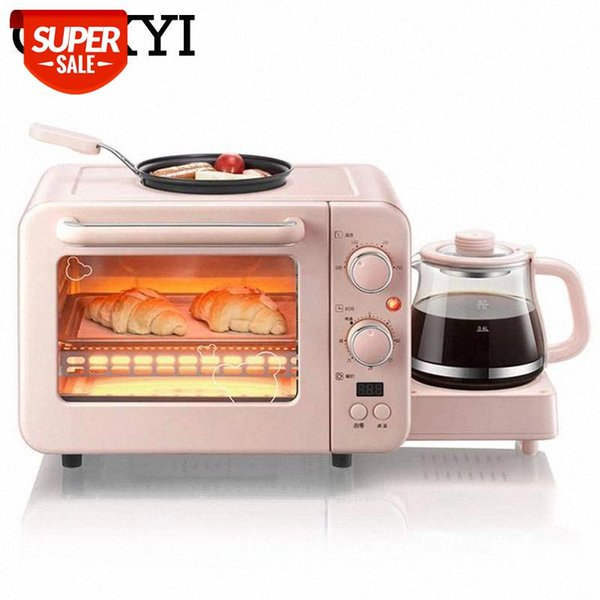 top popular CUKYI Breakfast Machine 8L Electric mini Oven Coffee maker eggs frying pan 3 in 1 household bread pizza oven grill Multifunction #iE05 2021
