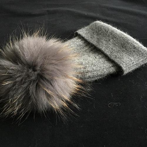 Темно-серый меховой меха