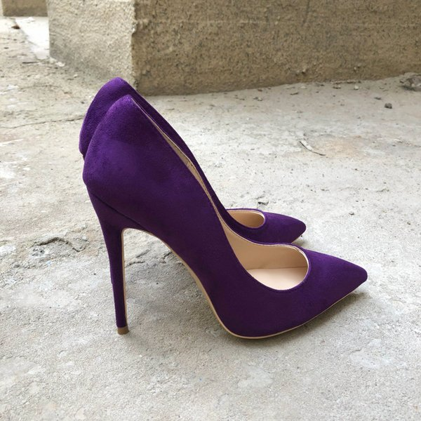 Purple 12cm Heel