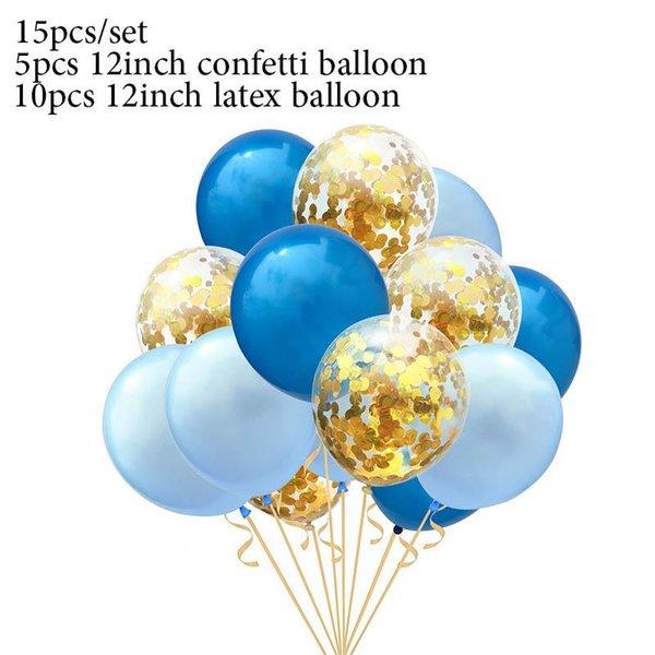 15pcs blue set