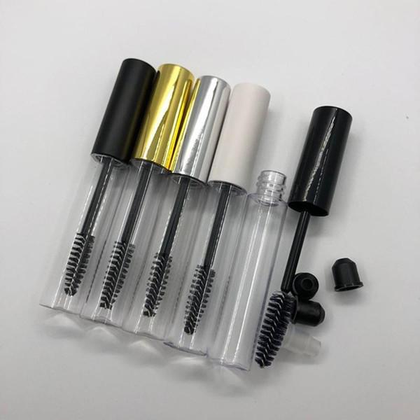 top popular corona 10ML Empty Tube With Eyelash Wand Mascara Bottle Container Brush Round Eyelash Bottles Clear Empty Mascara Packing Bottles 2021