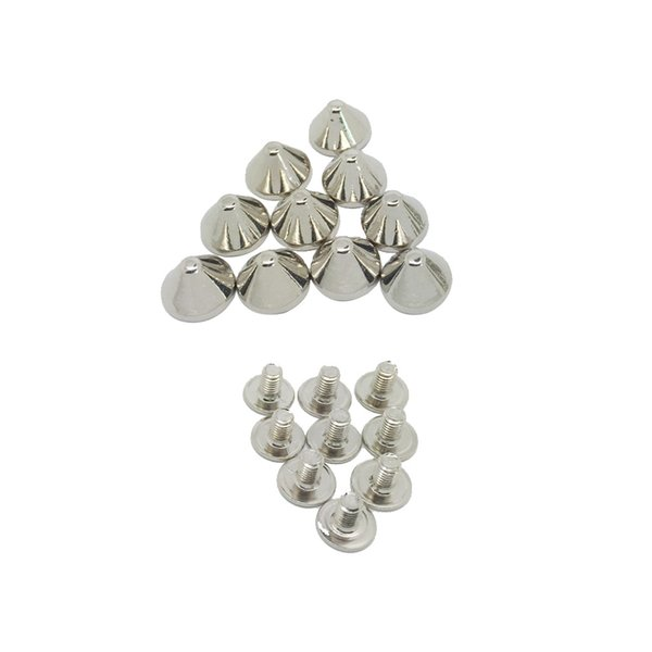 best selling 10 Sets Alloy Cone Rivets Studs 9x6mm