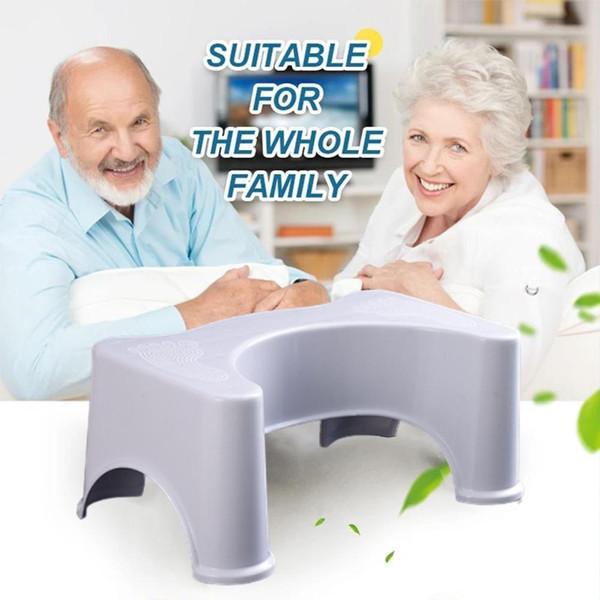 best selling Non-Slip Bathroom Plastic Step For Baby to Elderly Kids Heightened Easy Toilet Stool Use Anti-Fall LJ201110