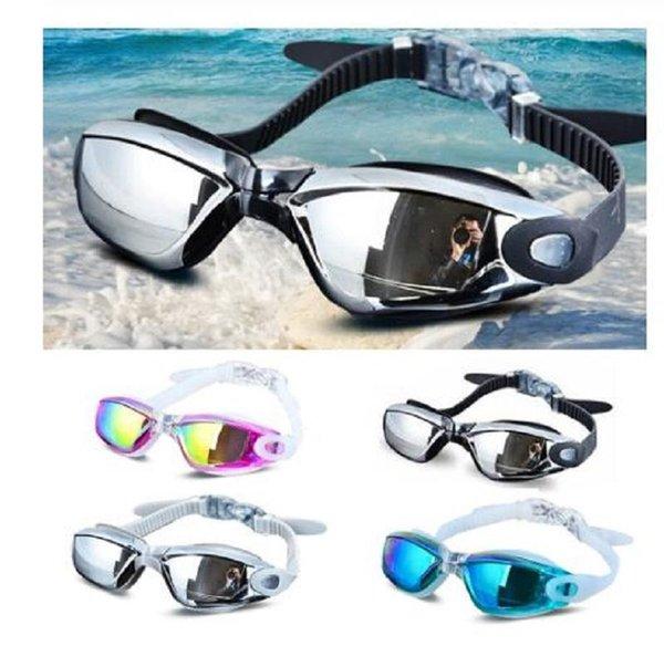 top popular Electroplating UV Waterproof Anti-fog Swimwear Eyewear Swim Diving Water Glasses Gafas Adjustable Swimming Goggles Women Men 2021