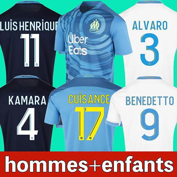 best selling 20 21 Olympique De Marseille soccer jersey 2020 2021 OM Marseille maillot de foot CUISANCE BENEDETTO KAMARA football shirt THAUVIN PAYET