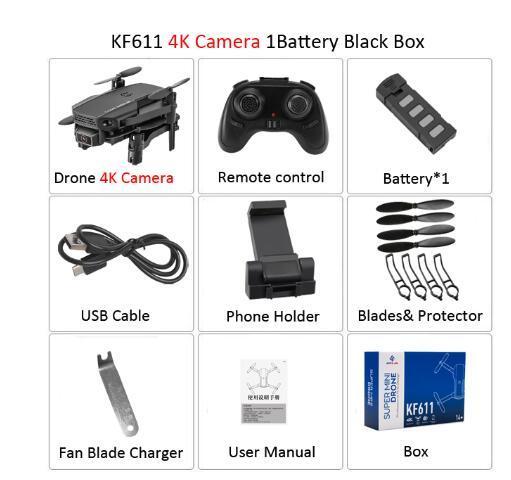 مع مربع للبيع بالتجزئة 4K الكاميرا