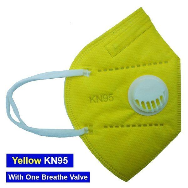 Gelbe Maske mit 1 Ventil