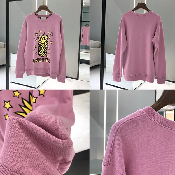 best selling pineapple Designer Hoodie men high quality Sweatshirts Long Sleeve Shirts Hoodies Autumn Spring women luxury clothing Printed letter Sweater