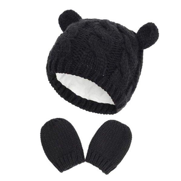 #1 baby hat mittens set