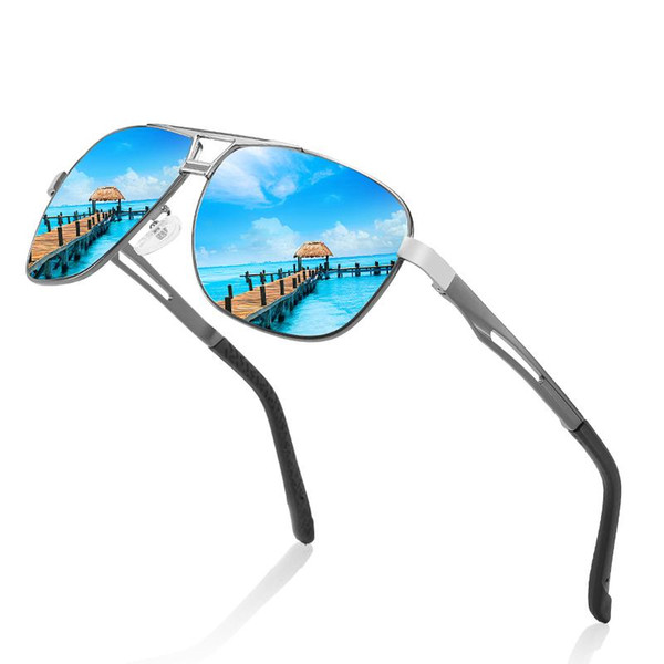 sc 2020 new brand vintage men sunglasses polarized uv400 alloy frame male sun glasses shades for women wholesale, White;black
