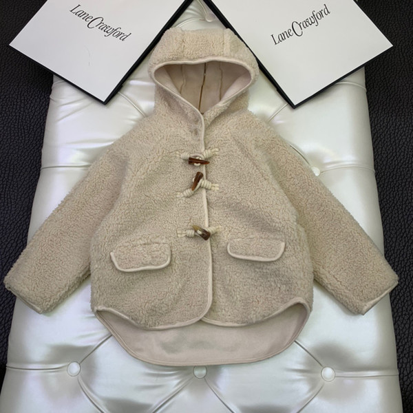 best selling New Arrive Winter Baby Girls lamb Coat Kids Girl Outdoor Clothing Children's Fleece Warm Hooded Outerwear