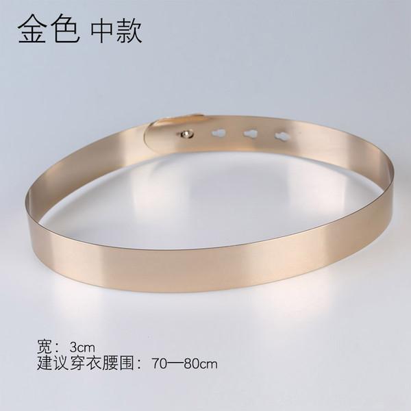 Ancho: 3 cm Oro Medio