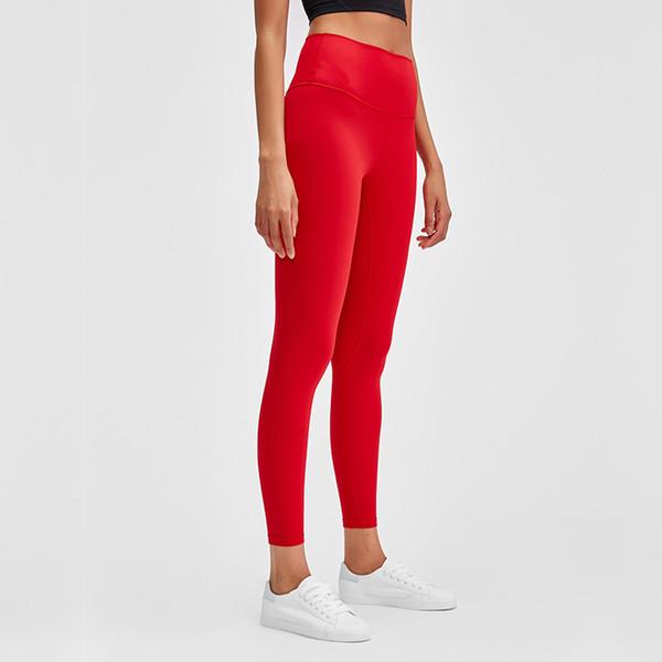 top popular Hot Sale! Spring New Nude Yoga Pants Women's High Waist Hips Running Tight Elastic Feet Sports Fitness Pants. 2021