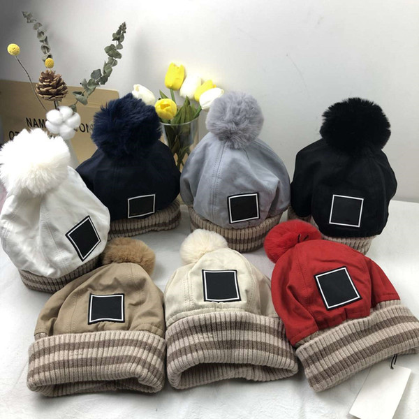 top popular Street Beanie Skull Caps Warm Autumn Winter Ball Top Winter Breathable Bucket Hat for Man Woman 7 Color Cap Top Quality 2021