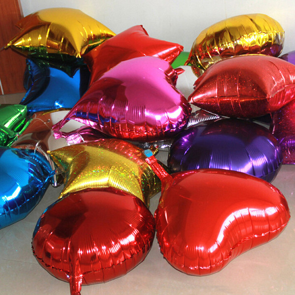 top popular Heart shaped aluminum balloon wedding arrangement love shaped foil balloon Christmas New Year's decoration 2021