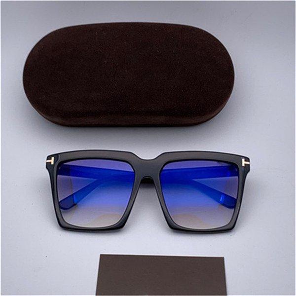Black frame blaue Folie