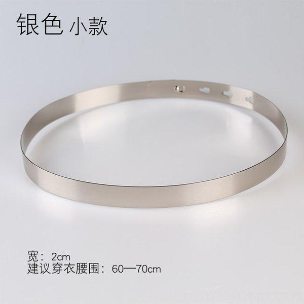 Ancho: 2cm pequeño plata