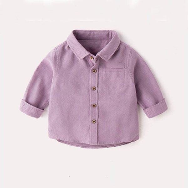 Purple Lapel Shirt