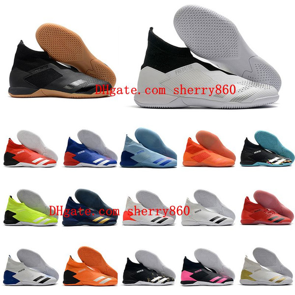 top popular 2020 mens soccer cleats PREDATOR 20.3 Laceless IN football boots indoor soccer shoes high ankle botas de futbol cheap 2020