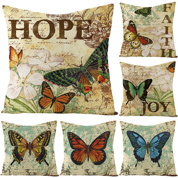 best selling Pillow Home Linen Products Case Butterfly Four Combination Cushion Cover Pillow