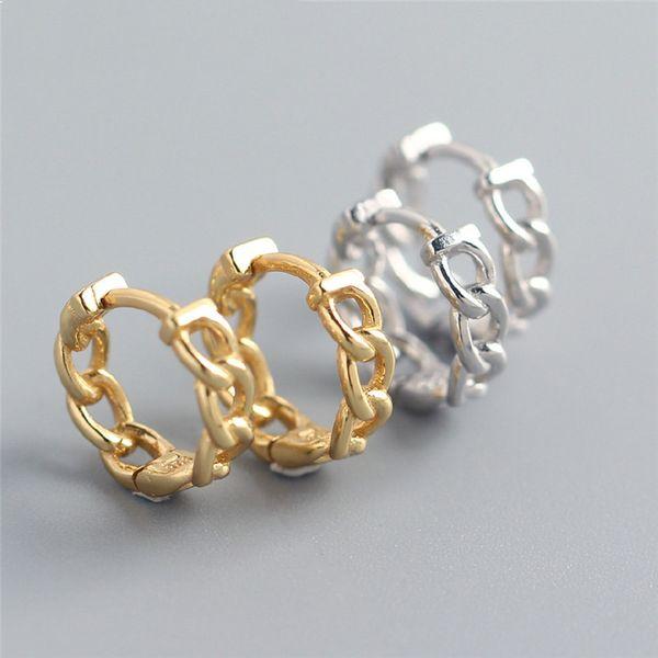 Februaryfrost Brand Designer 100% 925 Sterling Silver Fashion Chain Design Stud Earrings for Women fashion designer women simple earrings