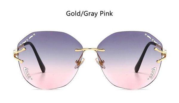 Золотой серый розовый
