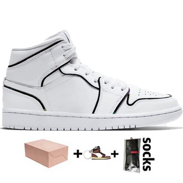 D9 Iridescent Reflective White 36-46