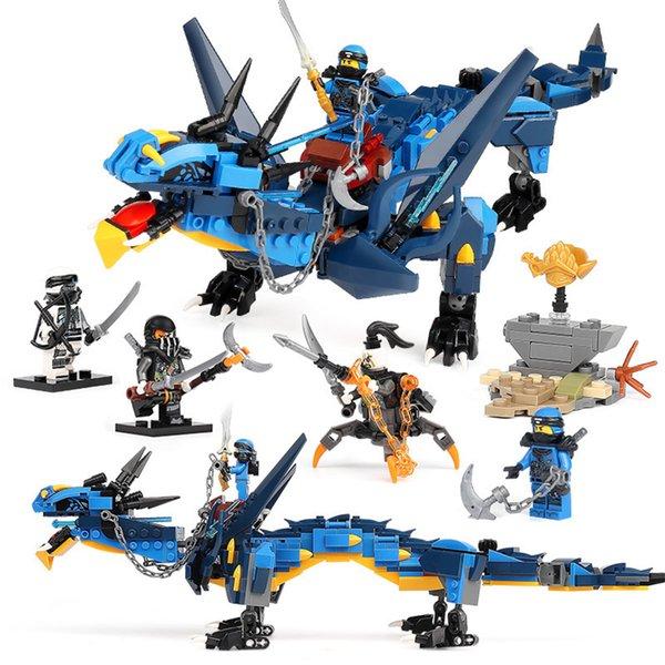 top popular Phantom Ninja Series Heavy Dragon Truck Building block Compatible with ed Assembl DIY Educating Children Toys Christmas Gift 2020