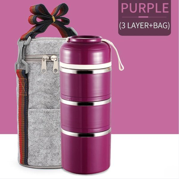 3 Capa púrpura bolsa