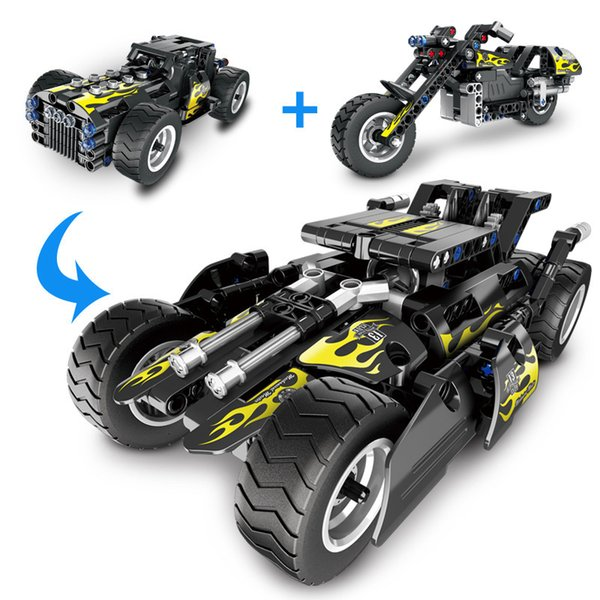 best selling New Mechanical Assembly of Deformed Car Racing Building block Compatible with ed Assembl DIY Educating Children Toys Gifts
