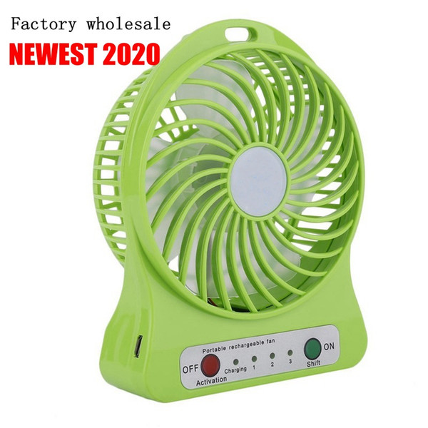 top popular 2020 Factory wholesale 33333 Mini Portable USB Cooling Fan, Summer Cooling Fan for Office, Car, Home, Travel, Vacation and Beach 2021