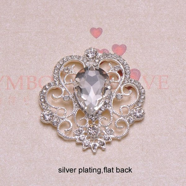 top popular (J0343) 40mmX42mm rhinestone button,flat back,silver or light gold or nickle plating,100pcs lot 2021