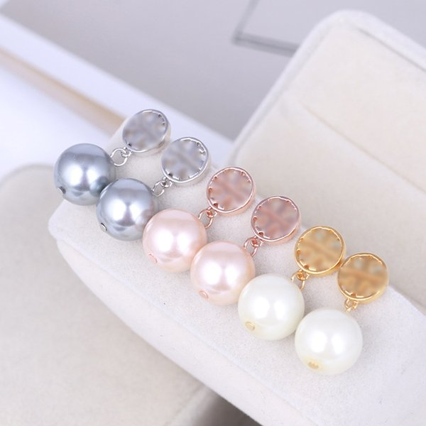 best selling New Real 18K Gold Plated Pearl Brand Stud Dorp Charm Drop Earrings Popular Brand Hot Sale Letter earrings