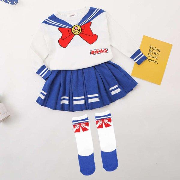 Bella ragazza vestito + calzini
