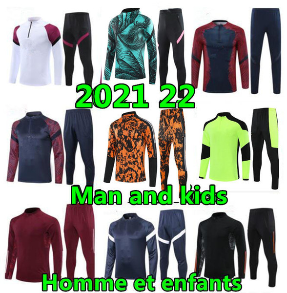 best selling 2020 21 22 Man and kids soccer training suit enfant maillot de foot Football jacket jogging child tracksuit