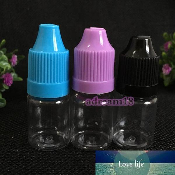 best selling Cheap PET Needle Bottle 5ml Plastic Dropper Bottle Clear 5 Ml E Liquid Bottle for E-juice Free Shipping