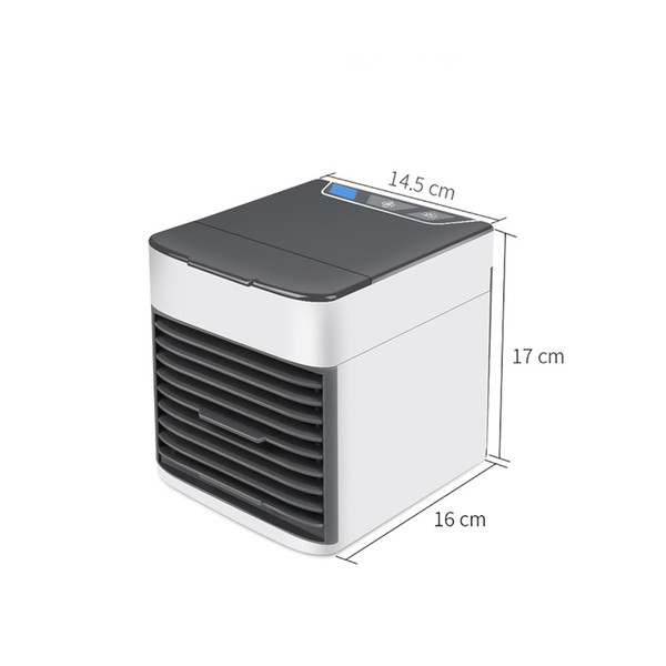 best selling FreeShipping Home Mini Air Conditioner Portable Air Cooler 7 Colors LED USB Personal Space Cooler Fan Air Cooling Fan Rechargeable Fan Desk
